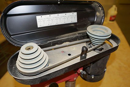 Image result for drill press step pulley